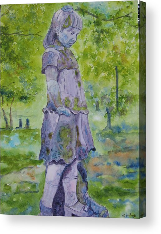 Statue Portrait Acrylic Print featuring the painting Little Nanny by Patsy Sharpe