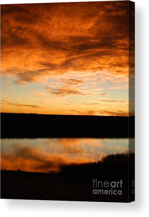 Sunrise Acrylic Print featuring the photograph Sunrise Reflections by Sara Mayer