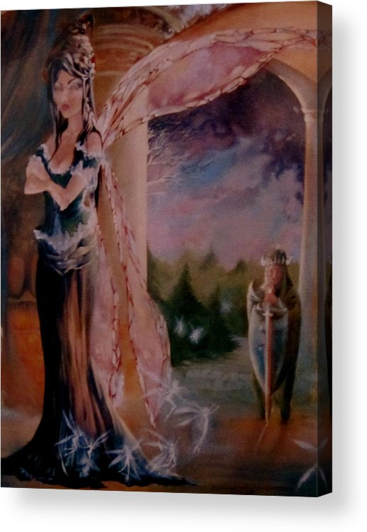Tamlin Fairy Queen Poem Acrylic Print featuring the painting Tamlin by Jackie Rock