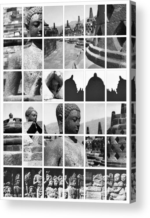 Image Acrylic Print featuring the photograph Borobudur In Frame by Mario Bennet