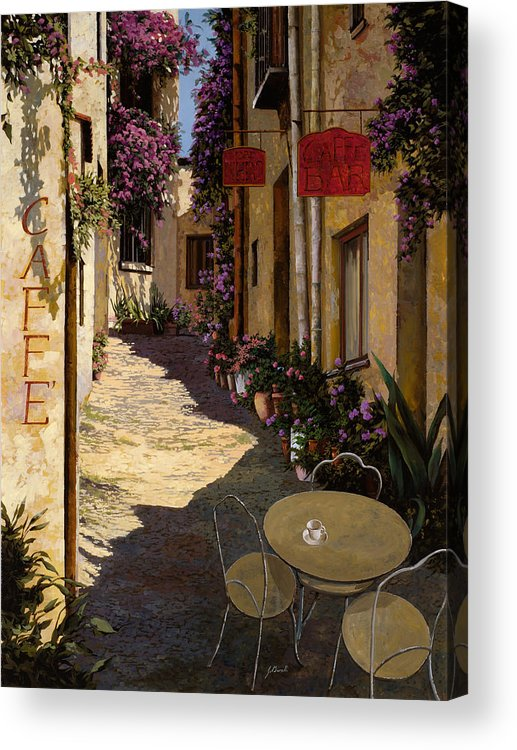 Caffe Acrylic Print featuring the painting Cafe Piccolo by Guido Borelli