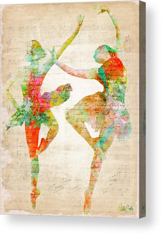 Ballet Acrylic Print featuring the digital art Dance With Me by Nikki Smith