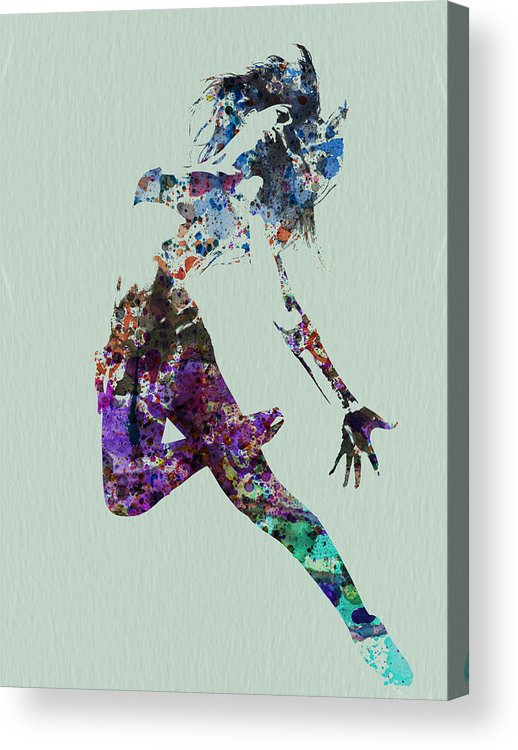 Dancer Acrylic Print featuring the painting Dancer Watercolor by Naxart Studio