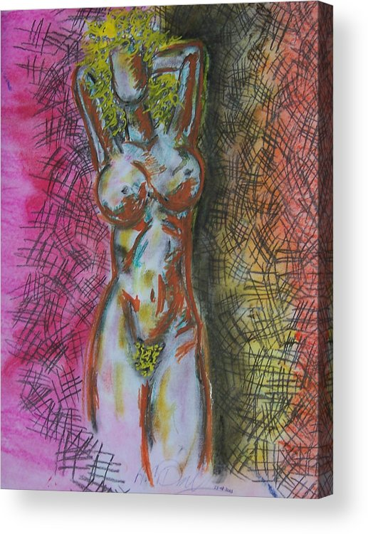 Abstract Acrylic Print featuring the drawing Drawing Of A Woman by B and C Art Shop