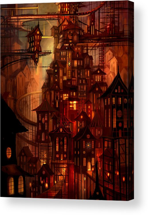 Surreal Acrylic Print featuring the painting Illuminations by Philip Straub
