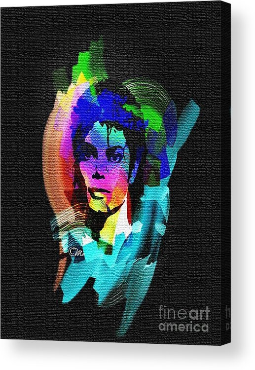 Michael Jackson Acrylic Print featuring the digital art Michael Jackson by Mo T