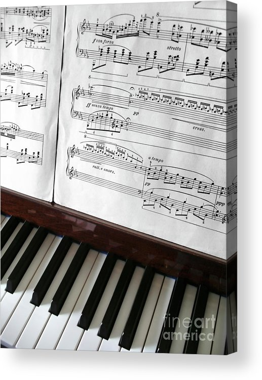 Acoustic Acrylic Print featuring the photograph Piano Keys by Carlos Caetano