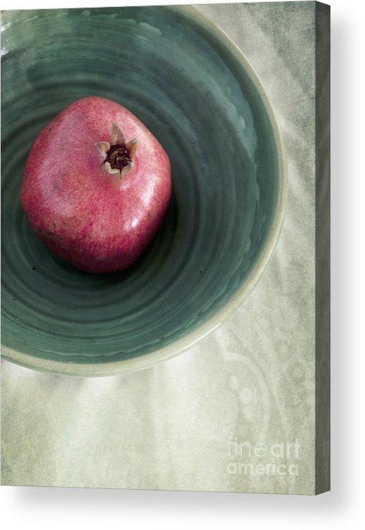 Punica Granatum Acrylic Print featuring the photograph Pomegranate by Priska Wettstein