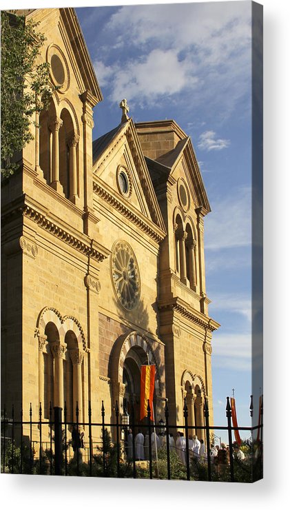St. Francis Cathedral Acrylic Print featuring the photograph St. Francis Cathedral - Santa Fe by Mike McGlothlen