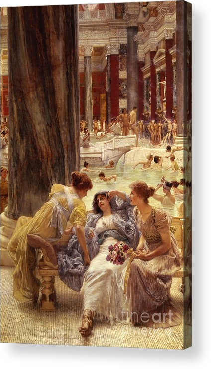 Baths Acrylic Print featuring the painting The Baths Of Caracalla by Sir Lawrence Alma-Tadema