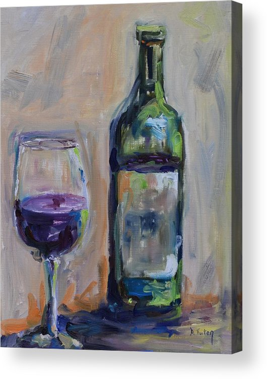 Wine Acrylic Print featuring the painting A Good Pour by Donna Tuten