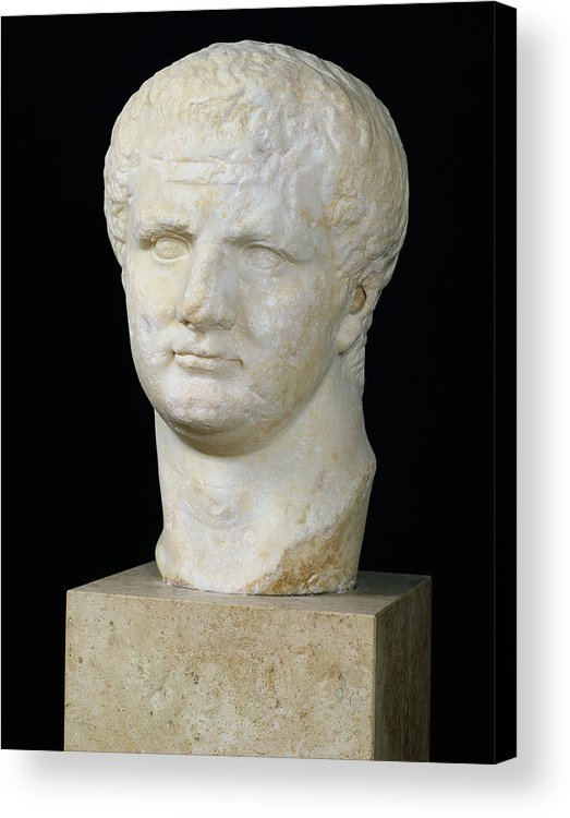 Tete De Acrylic Print featuring the sculpture Head Of Titus by Anonymous
