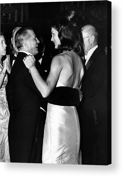 Jacqueline Acrylic Print featuring the photograph Jacqueline Kennedy Dancing by Retro Images Archive