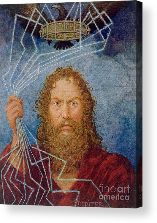 Thoma Acrylic Print featuring the painting Jupiter by Hans Thoma