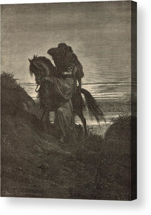Biblical Acrylic Print featuring the drawing The Good Samaritan by Antique Engravings