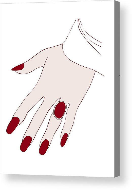 Fashion Acrylic Print featuring the painting Ring Finger by Frank Tschakert