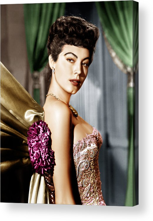 1940s Portraits Acrylic Print featuring the photograph Ava Gardner, Ca. Late 1940s by Everett