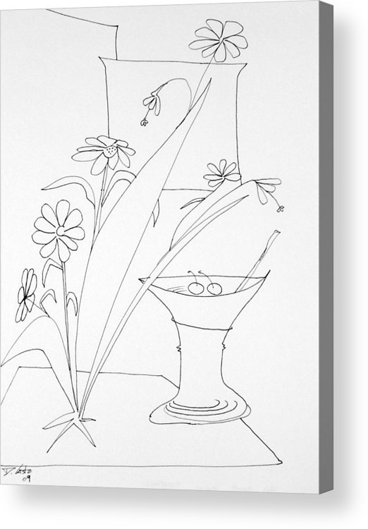 Room Acrylic Print featuring the drawing Cocktail by Denny Casto