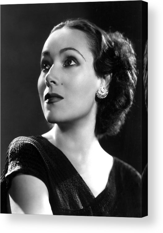 1930s Portraits Acrylic Print featuring the photograph Dolores Del Rio, Ca. 1935 by Everett