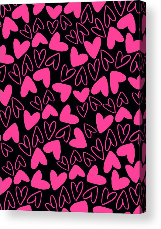 Heart Acrylic Print featuring the digital art Hearts by Louisa Knight