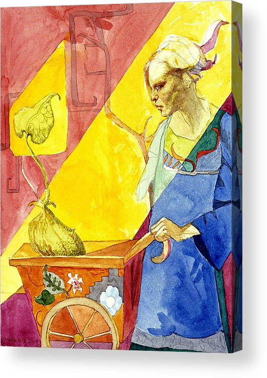 Women Acrylic Print featuring the painting Origins 2 by Ellen Dreibelbis