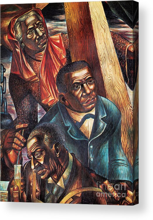 Booker T. Washington Acrylic Print featuring the photograph Harriet Tubman, Booker Washington by Photo Researchers