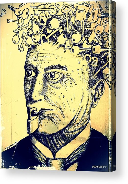 Impossibility Of Communication Acrylic Print featuring the digital art Impossibility Of Communication by Paulo Zerbato
