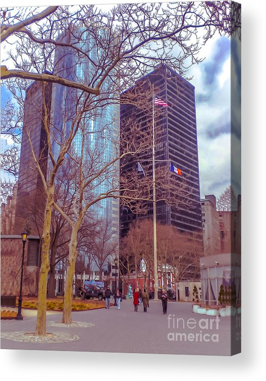 Urban Acrylic Print featuring the photograph Manhattan by Claudia M Photography