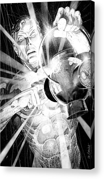 Green Lantern Acrylic Print featuring the painting Green Lantern by Ken Branch