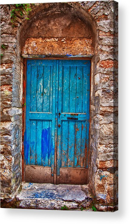 Old Acrylic Print featuring the photograph Traditional Door 2 by Emmanouil Klimis