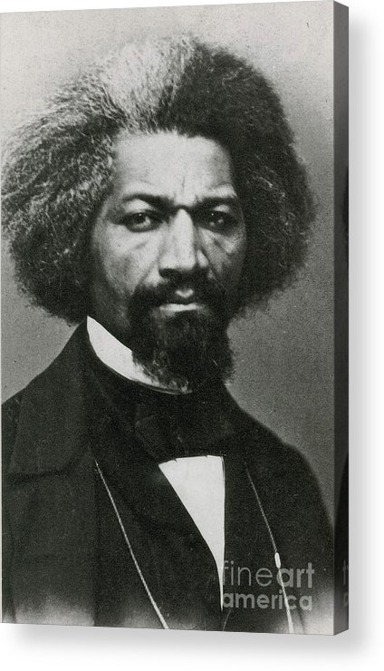 History Acrylic Print featuring the photograph Frederick Douglass, African-american by Photo Researchers