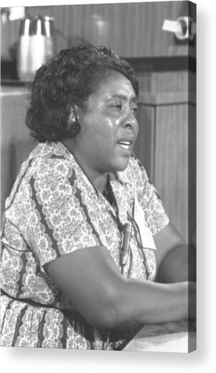 History Acrylic Print featuring the photograph Fannie Lou Hamer 1917-1977 by Everett