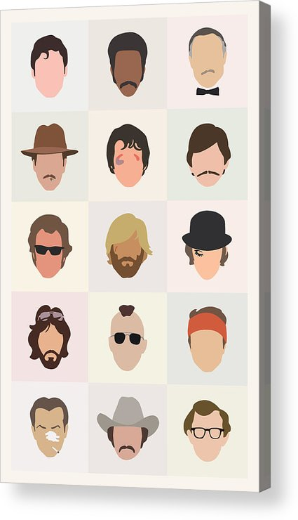 1970s Acrylic Print featuring the digital art Seventies Movie Dudes by Mitch Frey