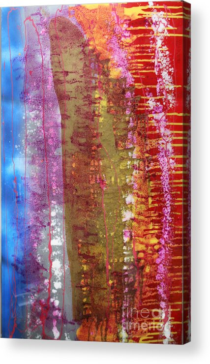 Abstract Acrylic Print featuring the painting Strata by Mordecai Colodner
