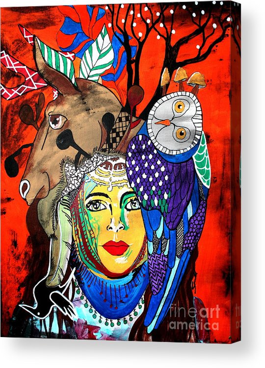 Fruit Basket Acrylic Print featuring the painting Animal Basket by Amy Sorrell