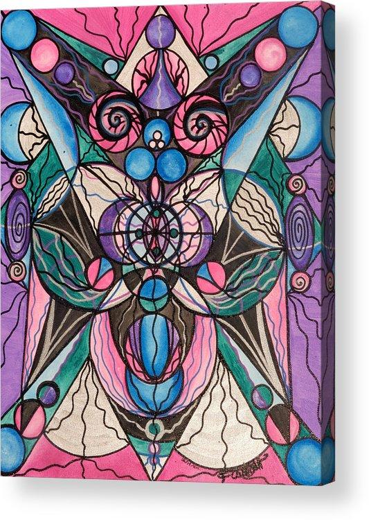 Arcturian Healing Lattice Acrylic Print featuring the painting Arcturian Healing Lattice by Teal Eye Print Store