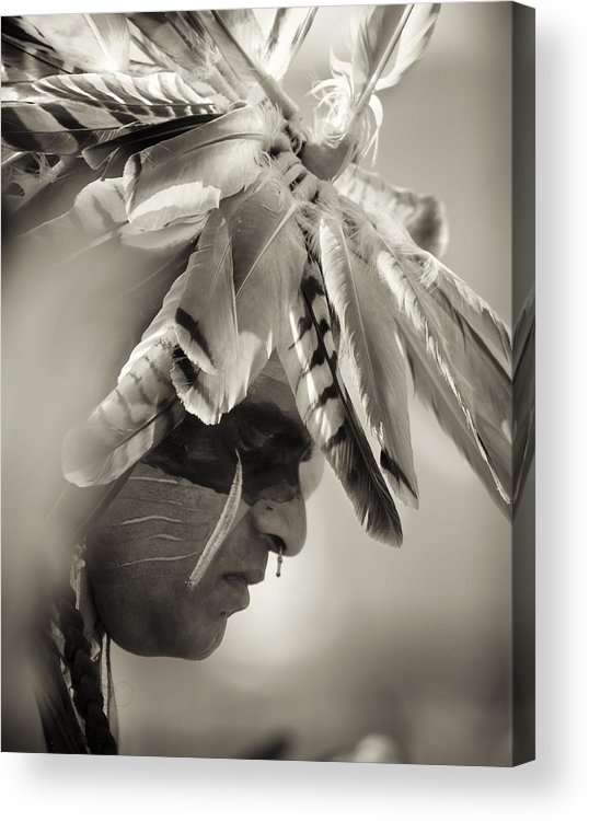 Chippewa Grass Dancer Acrylic Print featuring the photograph Chippewa Indian Dancer by Dick Wood