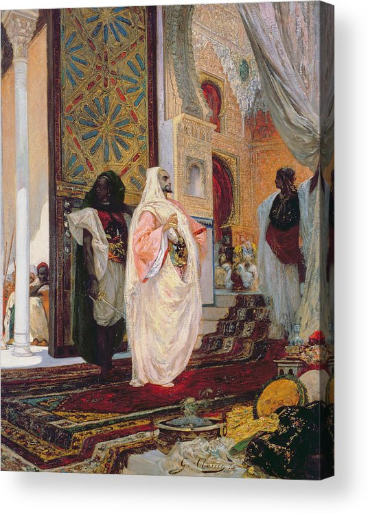 Entering The Harem Acrylic Print featuring the painting Entering The Harem by Georges Clairin