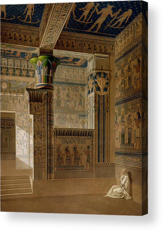 Print Acrylic Print featuring the drawing Interior View Of The West Temple by Le Pere
