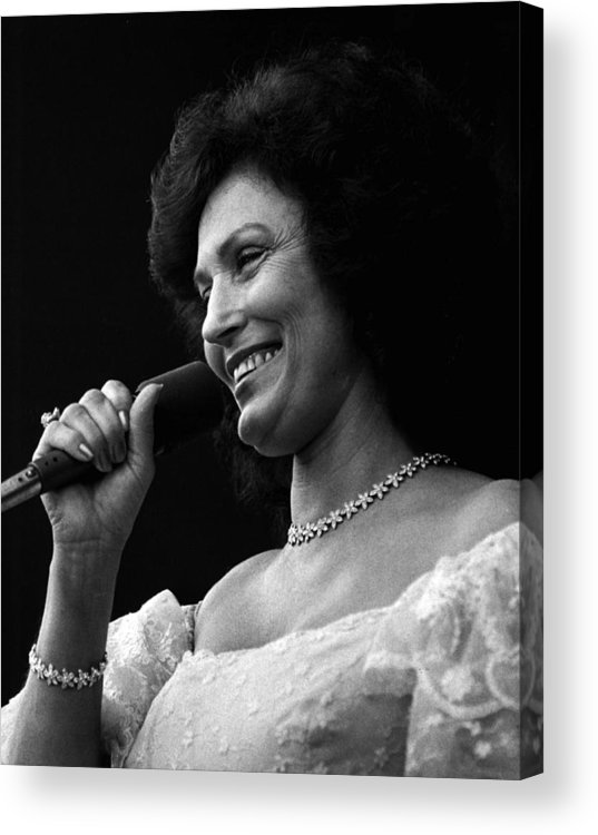 Retro Images Archive Acrylic Print featuring the photograph Loretta Lynn Singing by Retro Images Archive