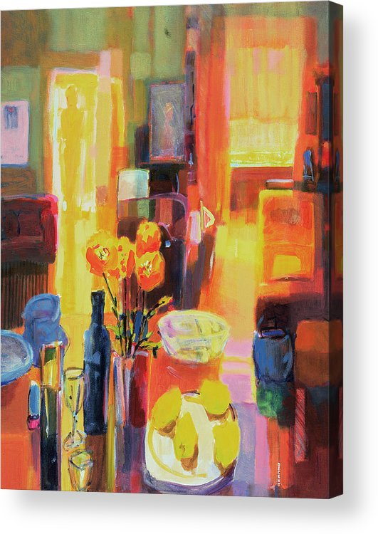 Nice Acrylic Print featuring the painting Morning In Paris by Martin Decent