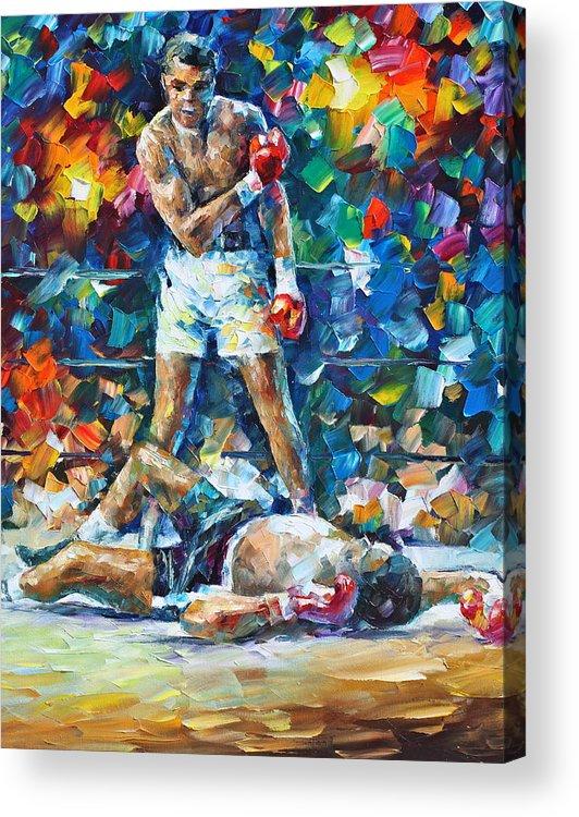Box Acrylic Print featuring the painting Muhammad Ali by Leonid Afremov
