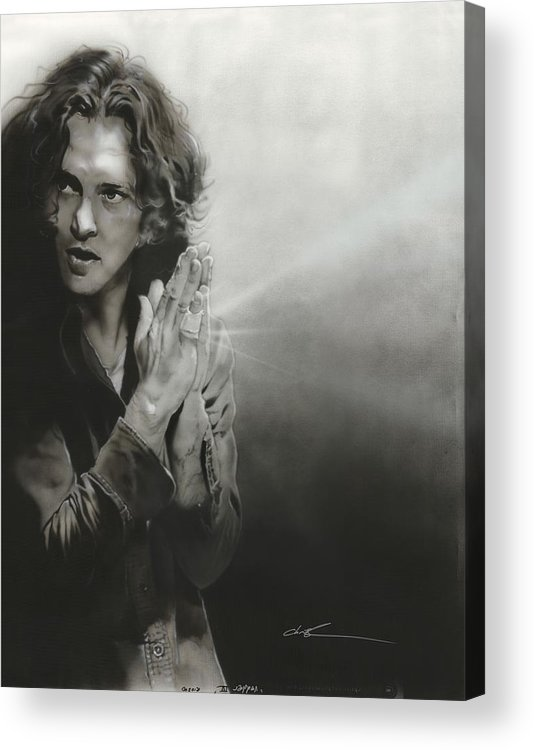 Eddie Vedder Acrylic Print featuring the painting 'vedder Iv' by Christian Chapman Art