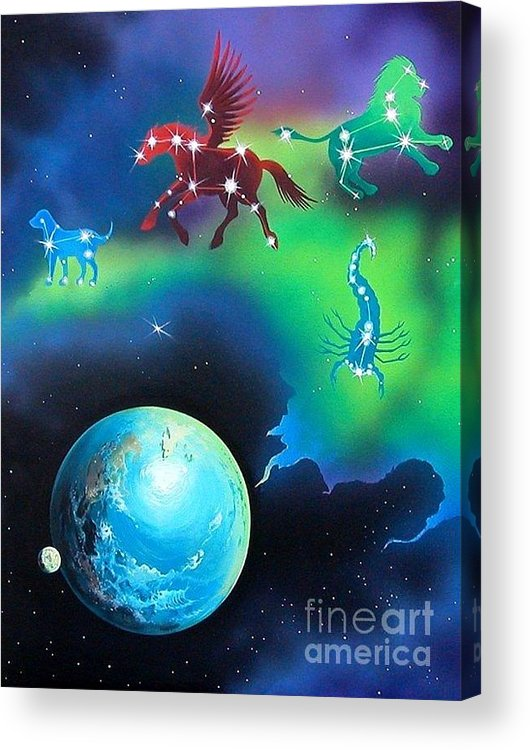 Fantasy Acrylic Print featuring the painting Constellations by Kimberlee Ketterman Edgar