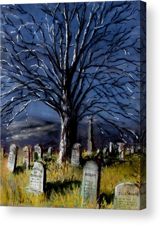 Cemetary Acrylic Print featuring the painting Left Alone by Jack Skinner