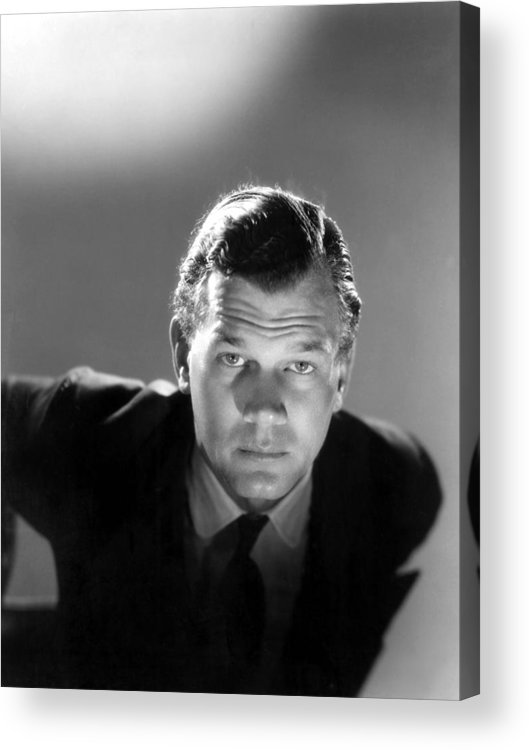 1940s Portraits Acrylic Print featuring the photograph Shadow Of A Doubt, Joseph Cotten, 1943 by Everett