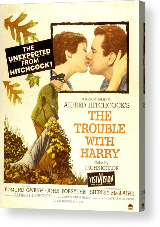 1950s Poster Art Acrylic Print featuring the photograph The Trouble With Harry, Shirley by Everett
