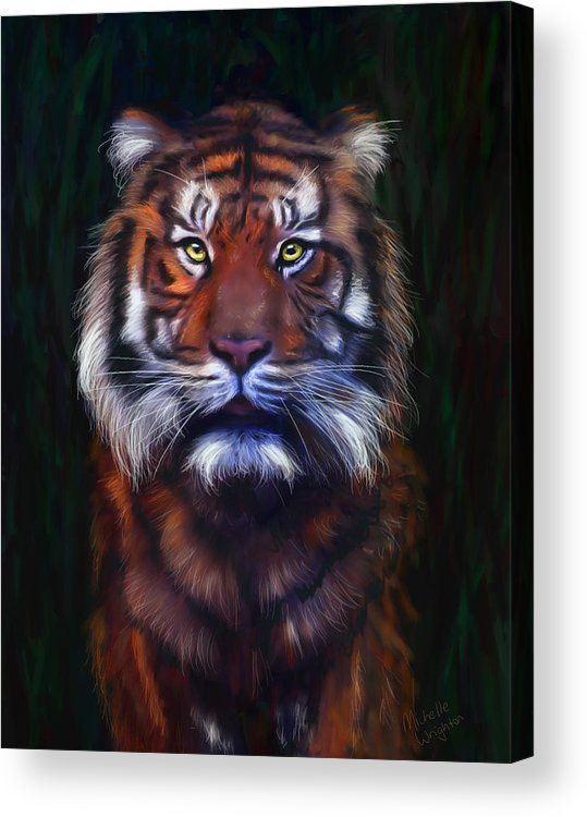 Tigers Acrylic Print featuring the painting Tiger Tiger by Michelle Wrighton
