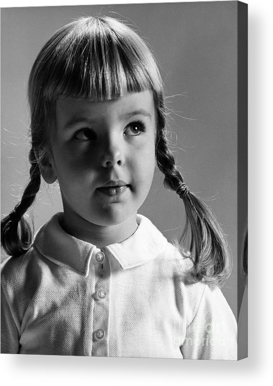 Girl Acrylic Print featuring the photograph Young Girl by Hans Namuth and Photo Researchers