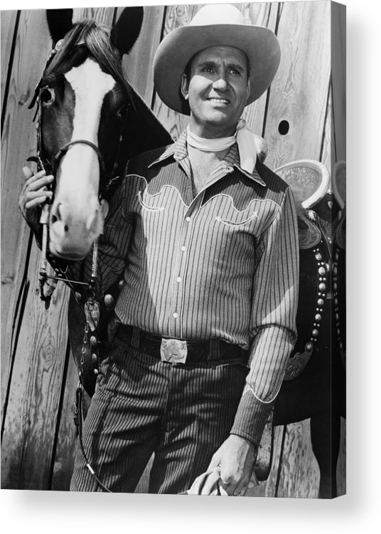 1950s Movies Acrylic Print featuring the photograph Champion And Gene Autry by Everett